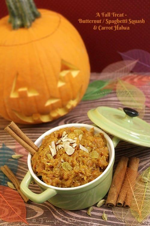 Butternut/Spaghetti Squash & Carrot Halwa