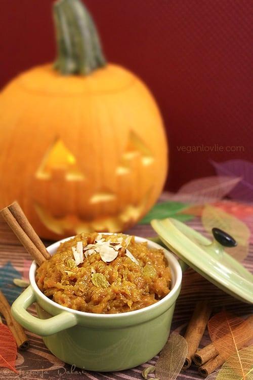 Spaghetti Squash Carrot Halwa