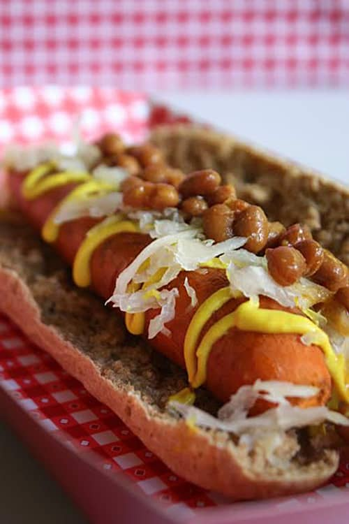 Vegan hot dogs
