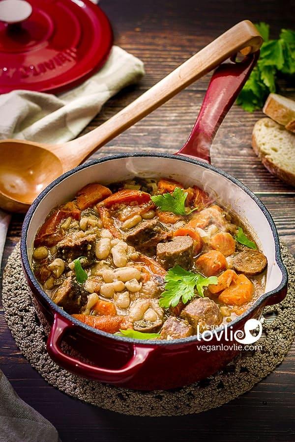 Vegan Cassoulet - French White Bean Stew
