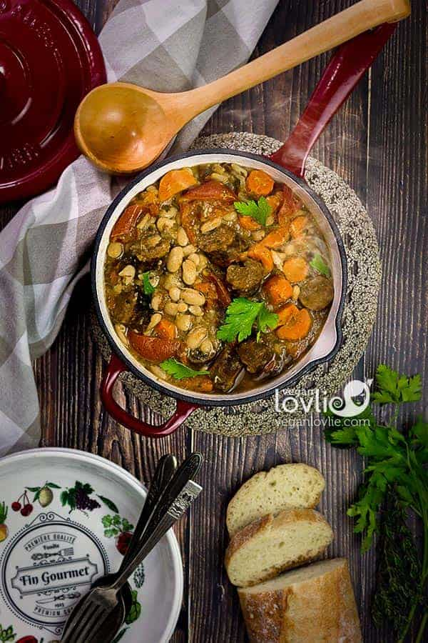 Vegan Cassoulet - French White Bean Stew