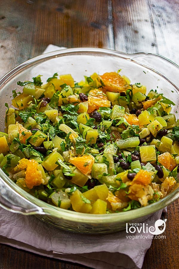 Chayote Salad with Golden Beets and Orange