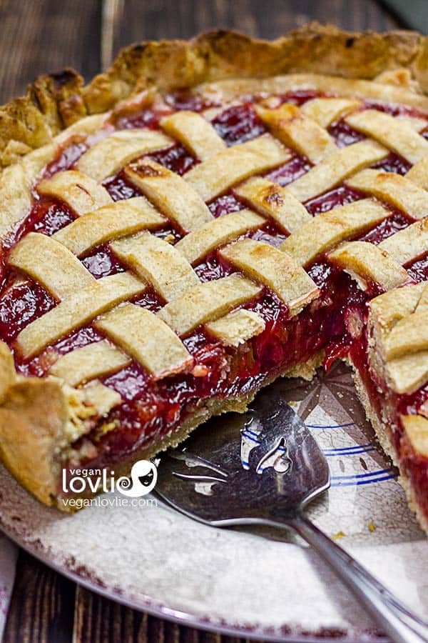 Cherry Rhubarb Pie & How to Avoid Soggy Bottom Crust