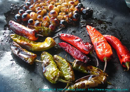 grilled chilies,enchiladas,daring cook challenge