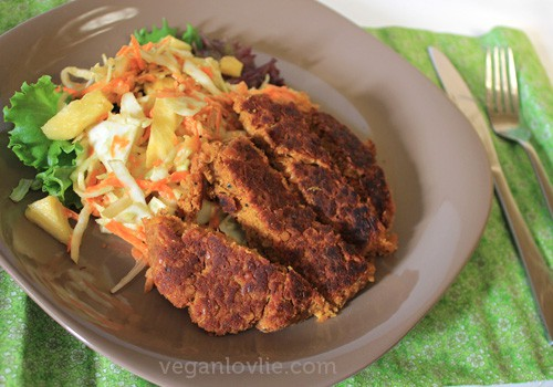 Vegan Coleslaw and Cutlet