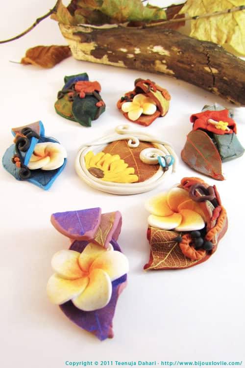 handmade floral cruelty-free vegan jewellery/jewelry