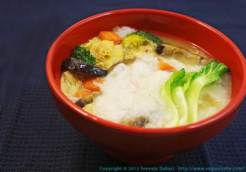 Beancurd, congee