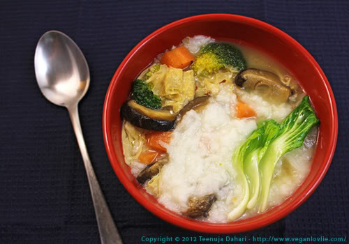 Vegetable congee