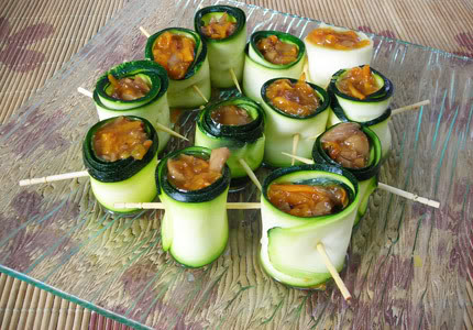 courgette zucchini rolls