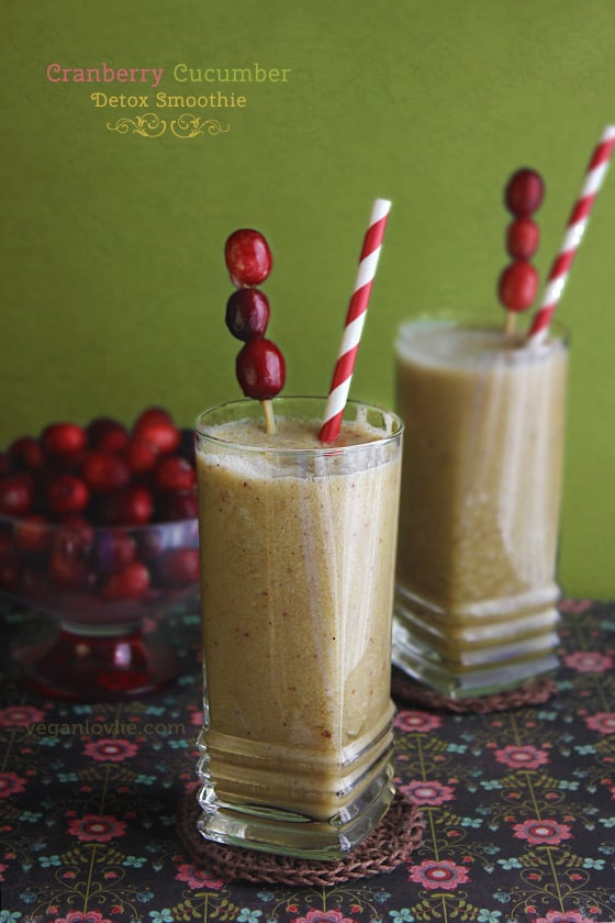 Cranberry Cucumber Detox Smoothie with Tamarind