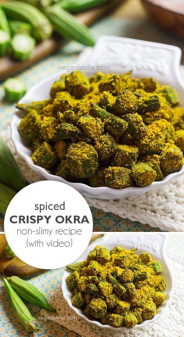 Spicy crispy pan-fried okra