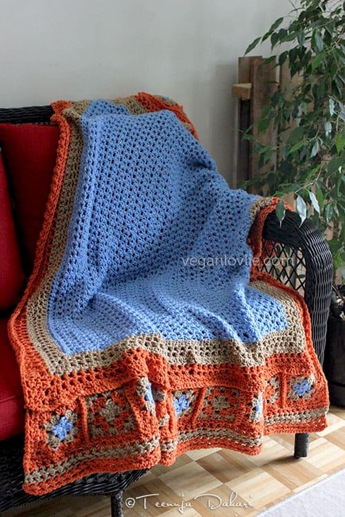 Crochet throw