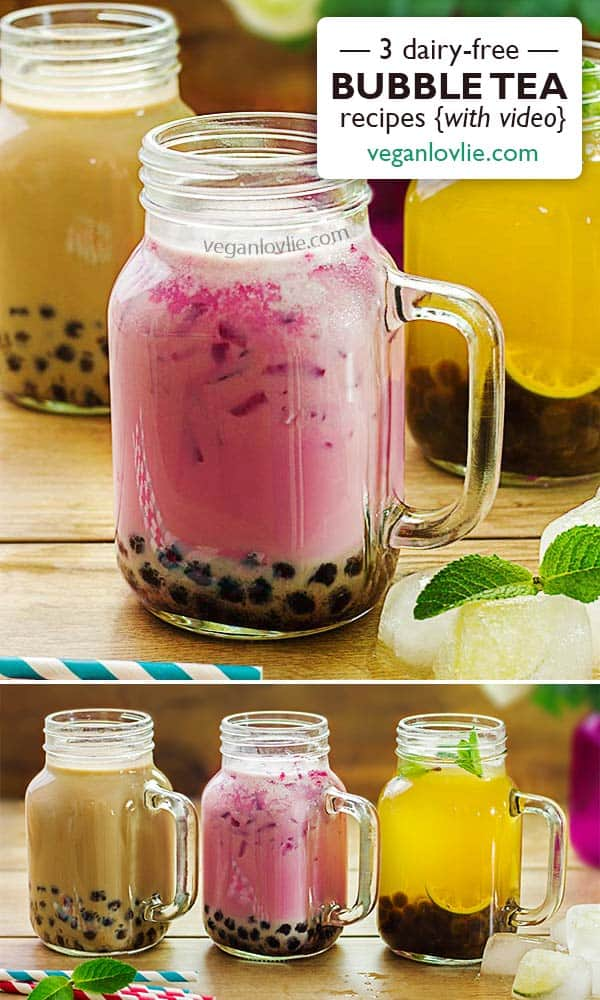 dairy-free bubble tea recipes, alouda, panacon, Mauritian drinks, Mauritian tea