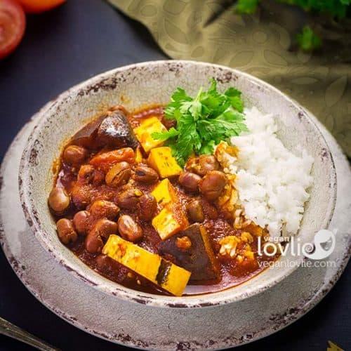 Delicata squash and fava beans stew