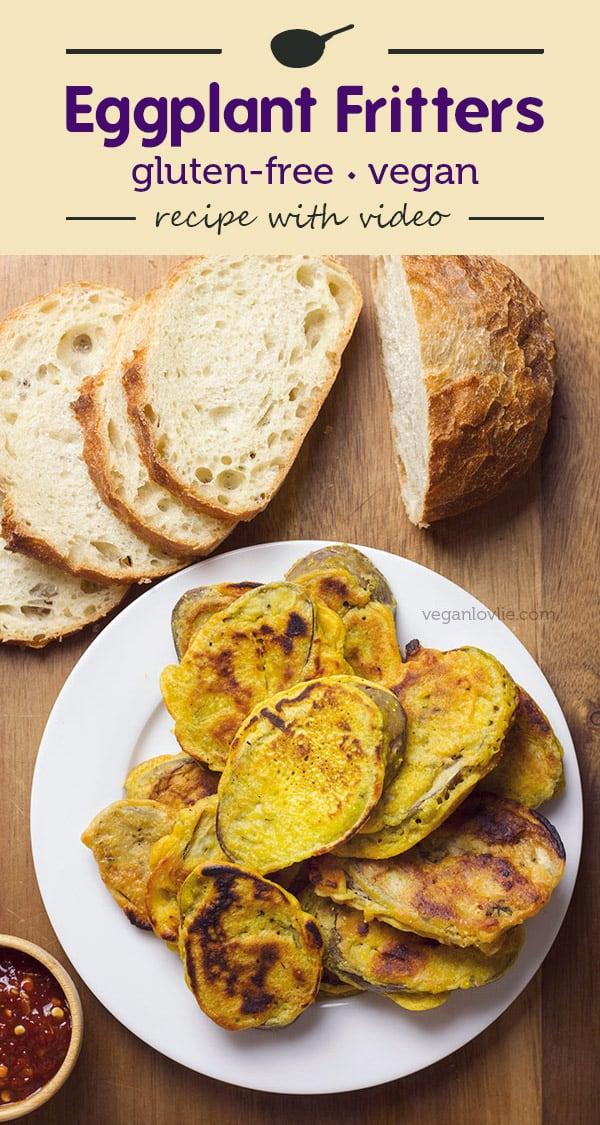 Eggplant Fritters, gluten-free, vegan