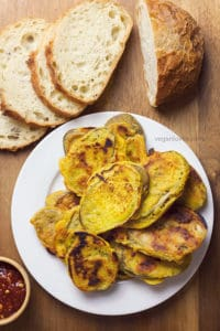 Eggplant fritters pan fried not deep fried gluten - Mauritian cuisine 100 easy recipes ...