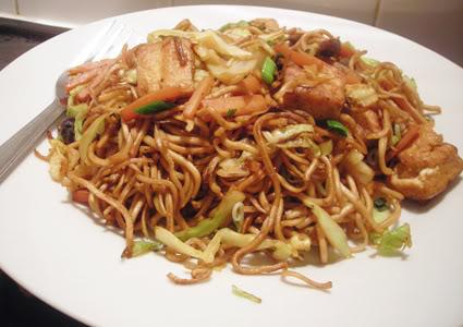 vegan fried noodles