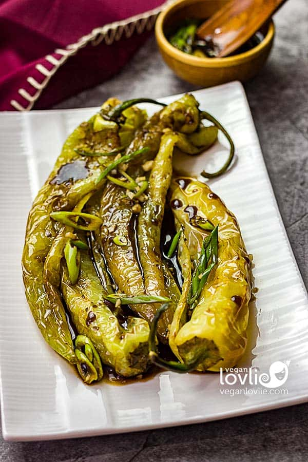 Fried Hot Peppers in Sweet and Sour Balsamic Vinaigrette