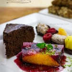 vegan fruit terrine and date rolls skewers