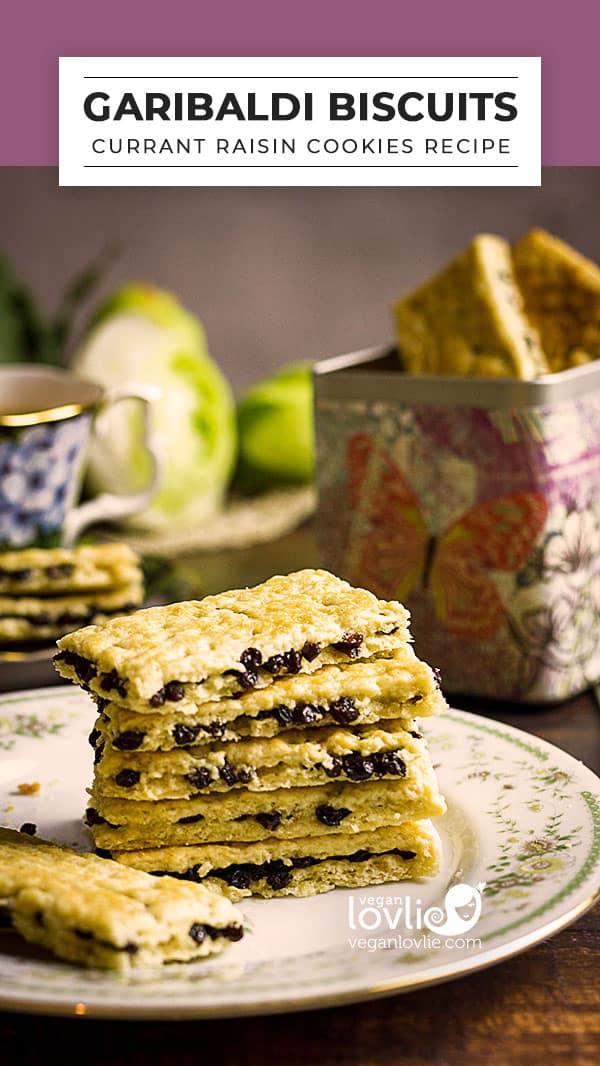 Garibaldi Biscuits Recipe - Currant Raisin Cookies