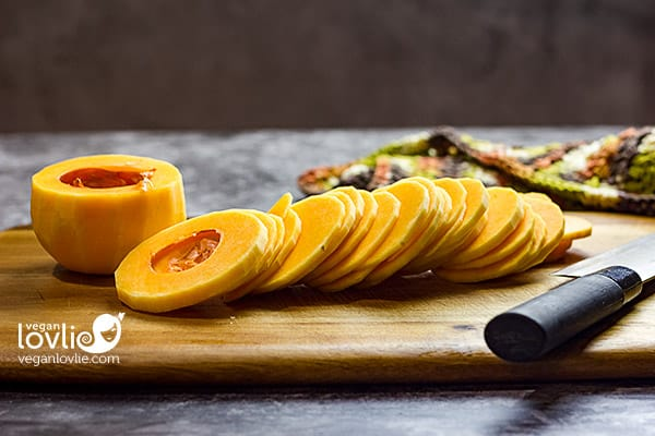 Butternut squash, sliced thinly into discs