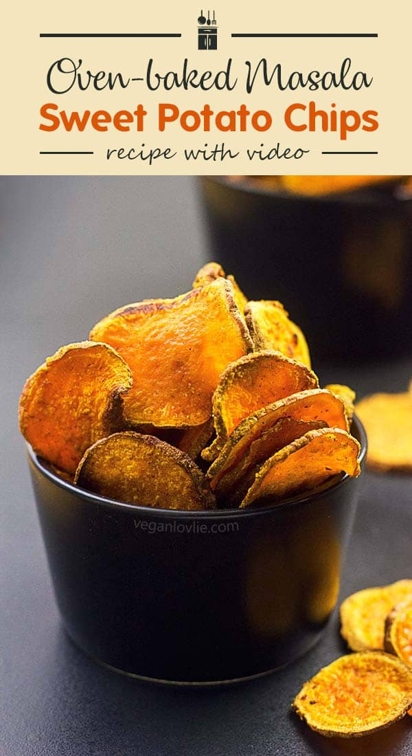 Grab yourself a healthy snack with these oven-baked Masala Sweet Potato Chips