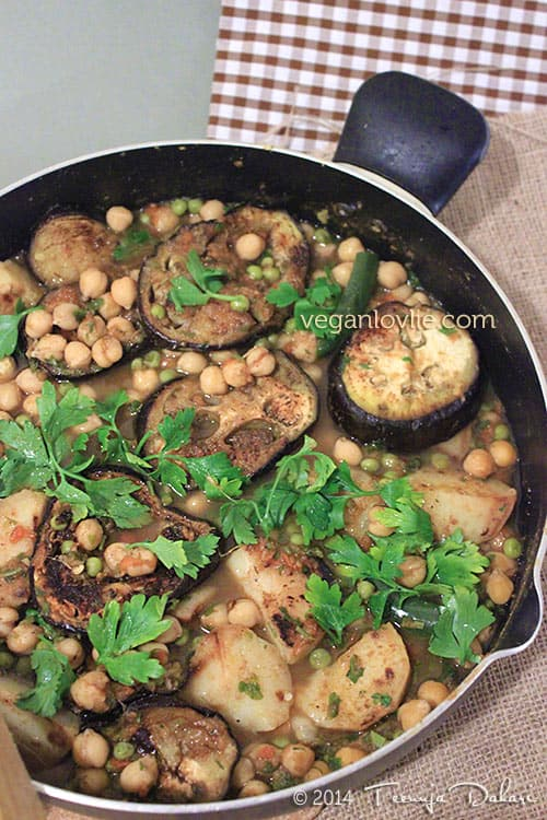 Mauritian Daube with Chickpea and Eggplant, Mauritian stew