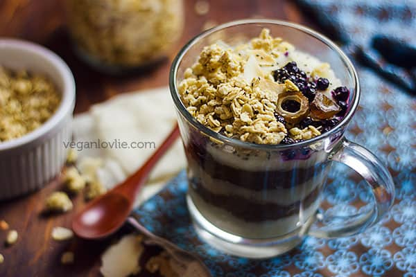 Layered Easy Rice Pudding with Nature's Path Granola