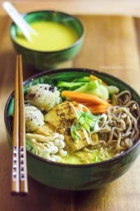 Coconut curry ramen noodle soup