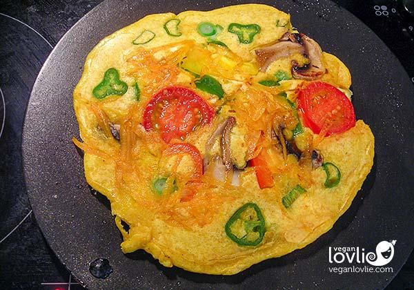 savoury pancakes, vegan pancake recipe, eggless pancake recipe, vegan pancakes recipe, vegetable pancake