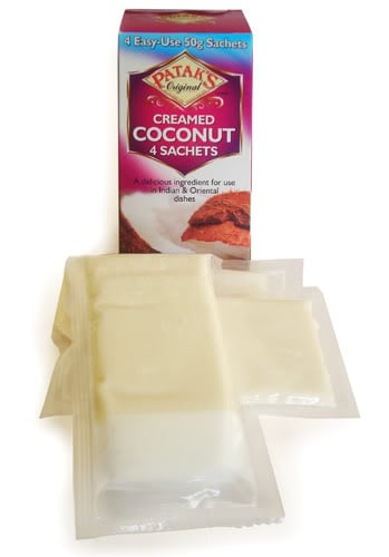 pataks creamed coconut,coconut milk