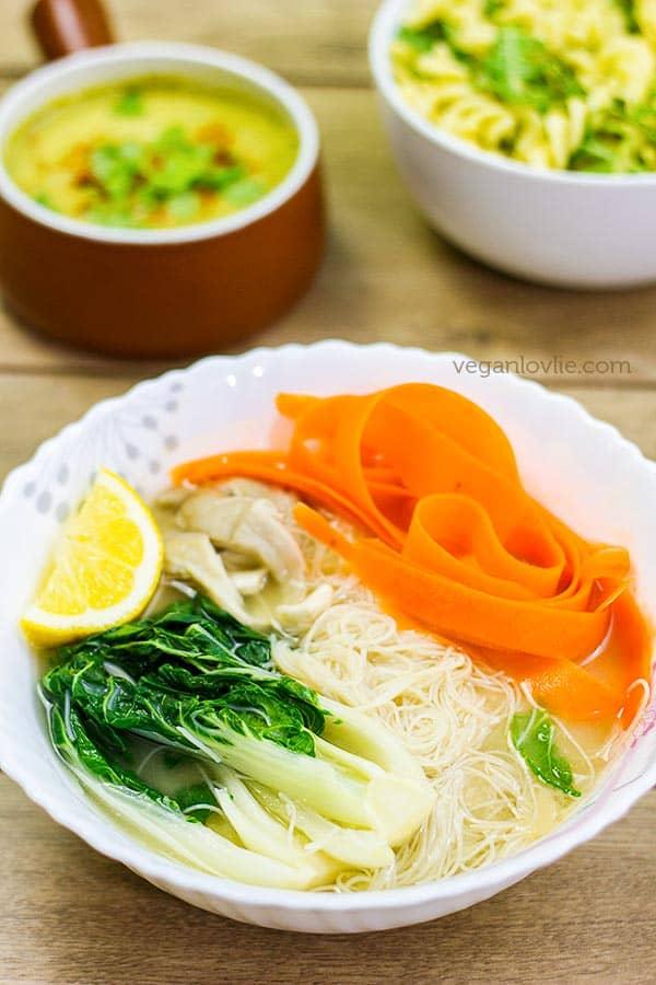 Peanut Butter Miso Noodle Soup - Veganlovlie