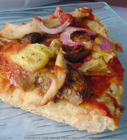 No-cheese pizza, pizza without cheese
