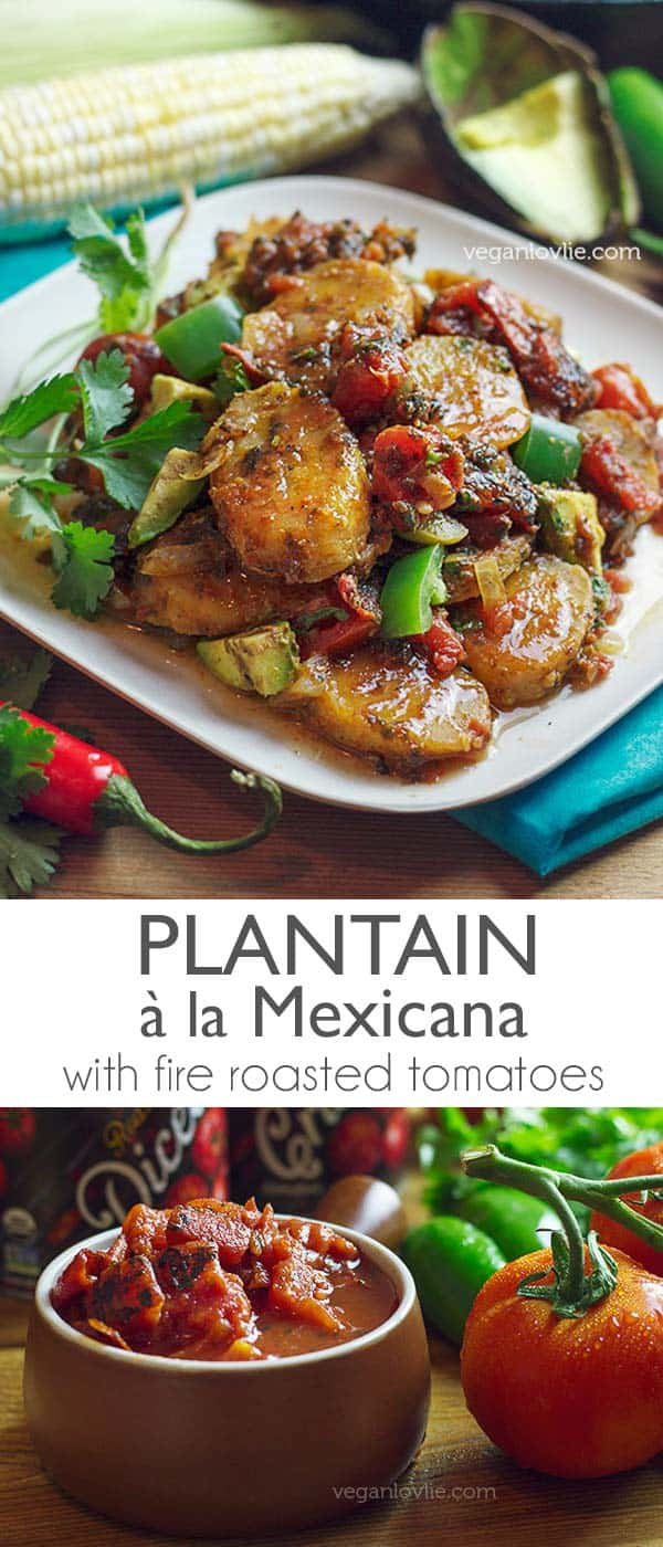 Ocean Plantain a la Mexicana with fire roasted tomates, Plantain recipes, Muir Glen tomato review