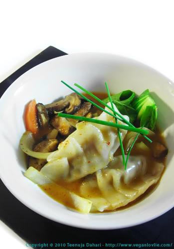 Poached dumpling
