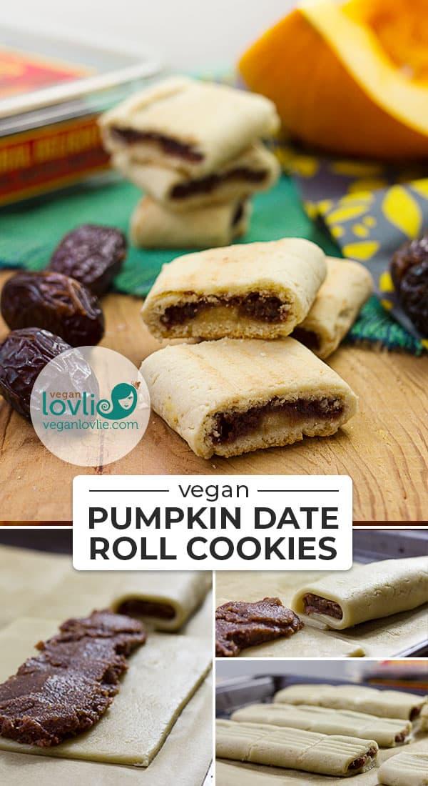 Pumpkin Date Roll Cookies - Vegan Cookies #veganlovlie