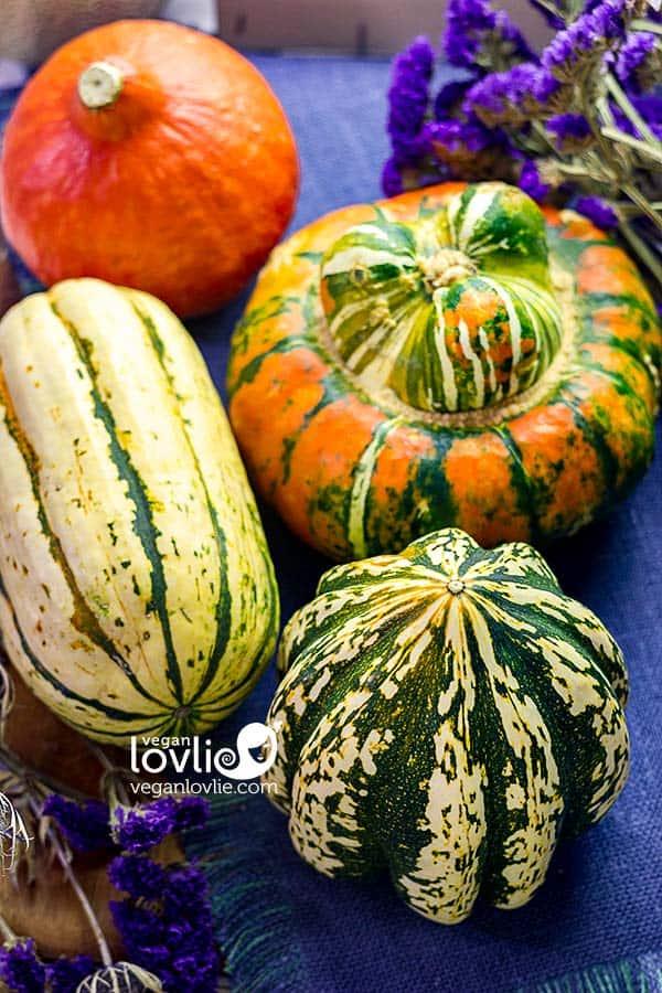 Pumpkin and squashes - sweet dumpling, delicata, red kuri and turban squash