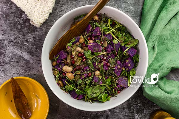 Purple Potato Salad with Tarragon Dressing