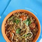 Quinoa Salad with Miso Orange Dressing
