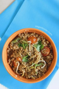 Quinoa Salad with Miso Orange Dressing