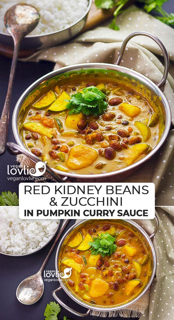Red Kidney Beans and Zucchini in Pumpkin Curry Sauce
