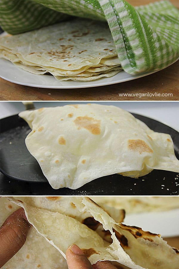 Roti (Farata/Paratha) Recipe and Fillings - Mauritian