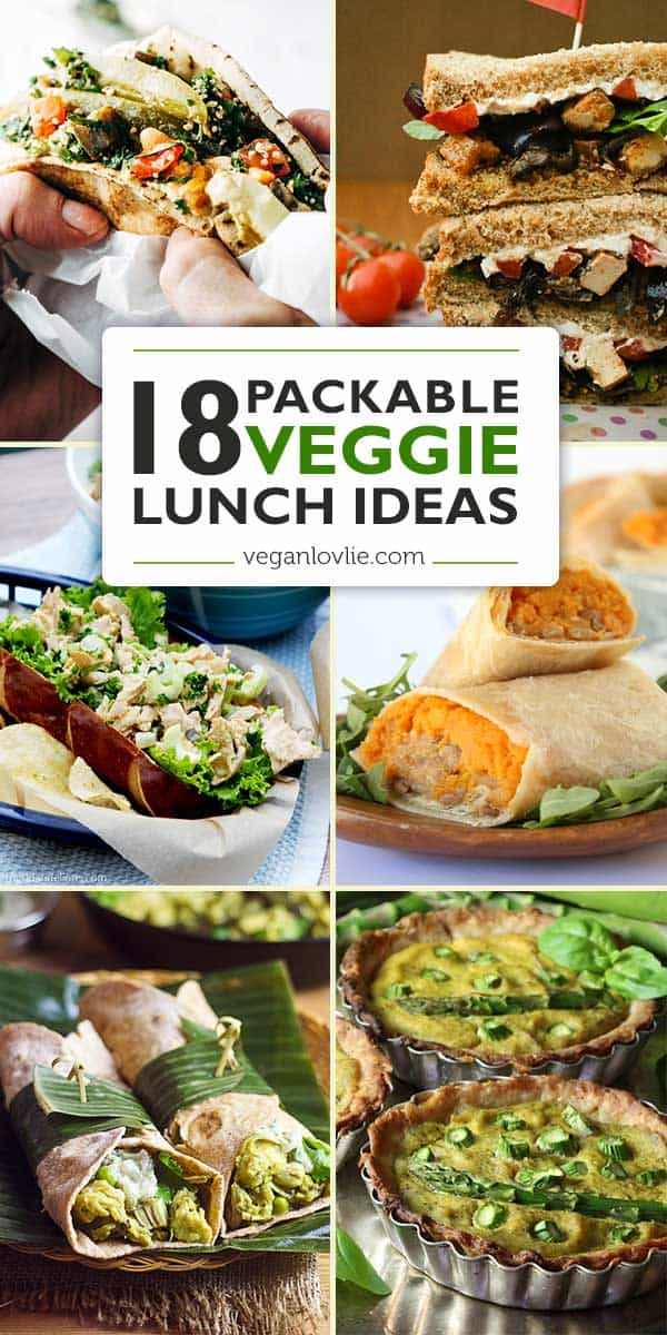 Packed Veggie Lunch Ideas - 18 Portable Lunches