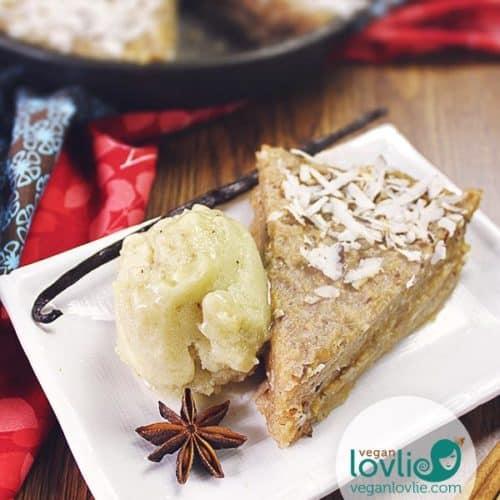 Crustless no-bake rutabaga pie, naturally sweetened, gluten-free and grain-free. Sweet rutabaga recipe, swede dessert.