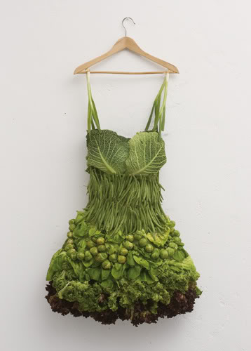 green vegetable dress