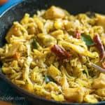sauteed cababage with potatoes [touffer li chou]