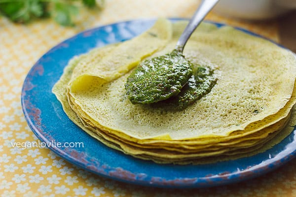 savoury crepe recipe, crepes salées, how to make successful crepes vegan