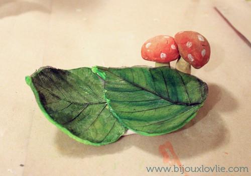 Mushroom and Leaf Soap Dish
