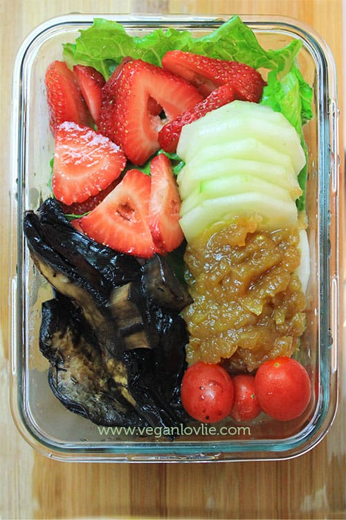 Strawberry, Portobello Salad