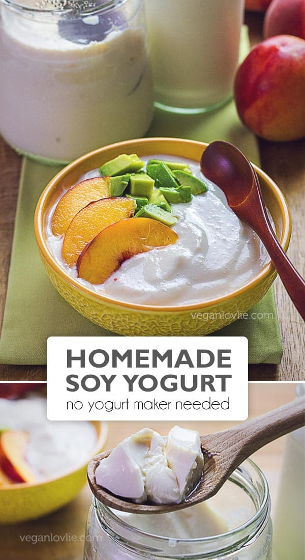 homemade soy yogurt, how to make vegan yogurt